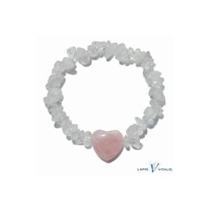 bracelet harmonisant quartz et quartz rose